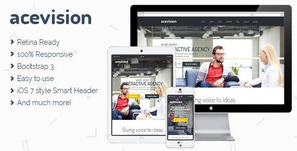 دانلود قالب HTML تک صفحه ای Acevision