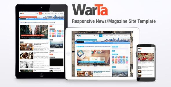 دانلود قالب HTML خبری Warta