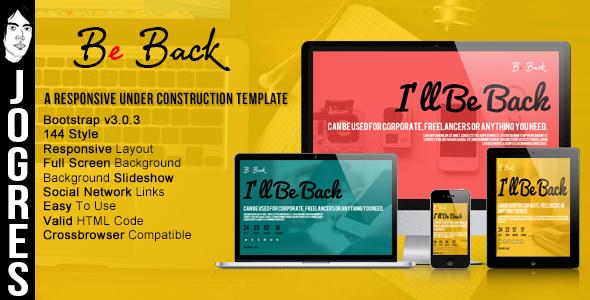 دانلود قالب HTML در دست طراحی Be Back