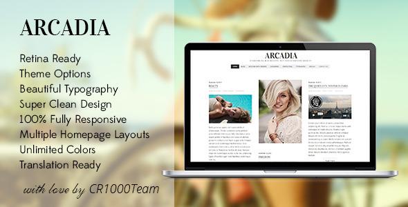 دانلود قالب وبلاگی وردپرس Arcadia