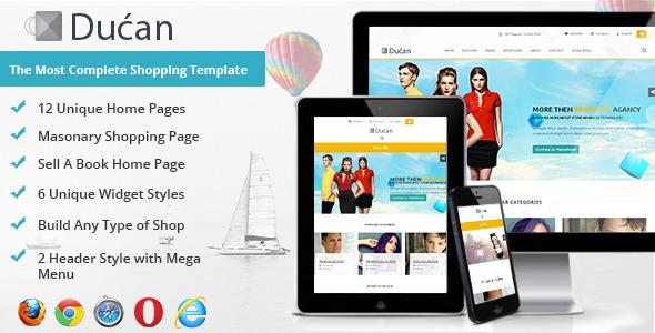 دانلود قالب HTML فروشگاهی Ducan