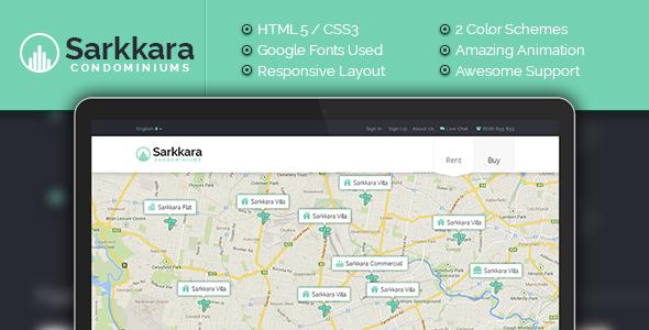 دانلود قالب HTML املاک Sarkkara