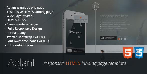 دانلود قالب Aplant Responsive HTML5 Landing Page