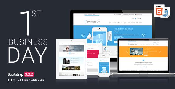 دانلود قالب HTML سایت 1st Business Day