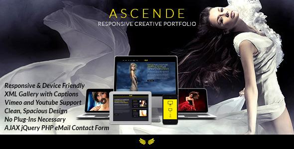 دانلود قالب HTML گالری عکس و ویدئو Ascende