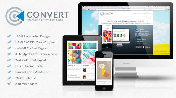 دانلود قالب HTML فروشگاهی Convert