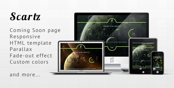 دانلود قالب HTML پارالاکس در دست طراحی Scartz