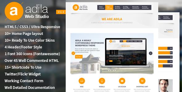 دانلود قالب HTML چندمنظوره Adila