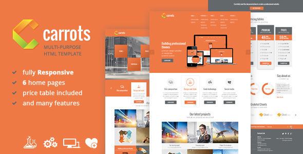 دانلود قالب HTML چندمنظوره Carrots