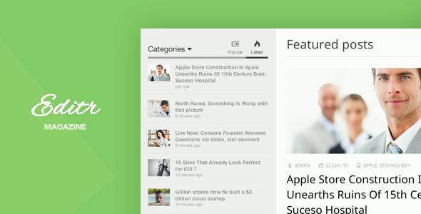 دانلود قالب وبلاگی وردپرس Editr