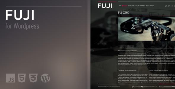 دانلود قالب تمام صفحه وردپرس Fuji
