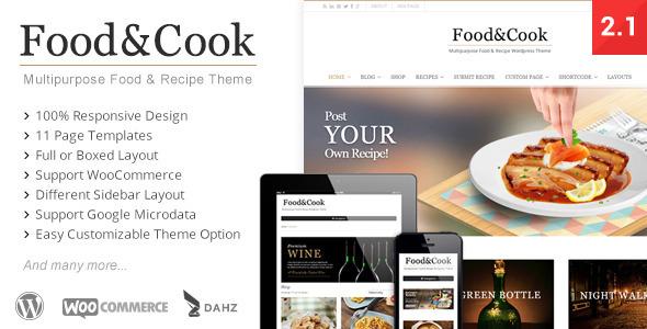 دانلود قالب وردپرس آشپزی Food - Cook
