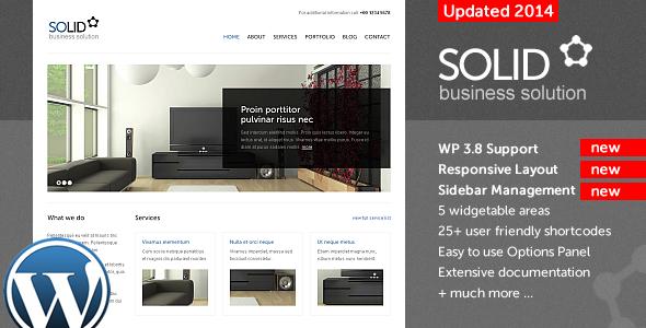 دانلود قالب شرکتی وردپرس Solid WP