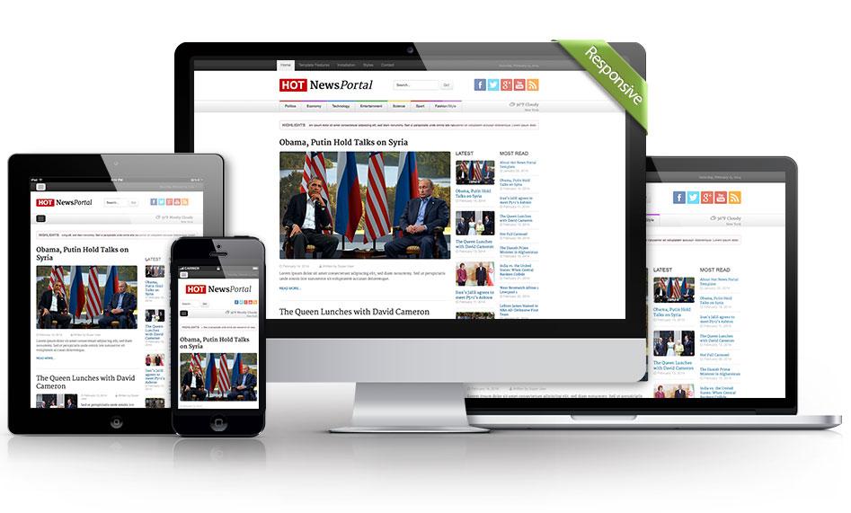 دانلود قالب جوملا HOT News Portal راست چین