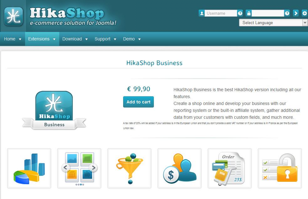 دانلود افزونه جوملا HikaShop Business