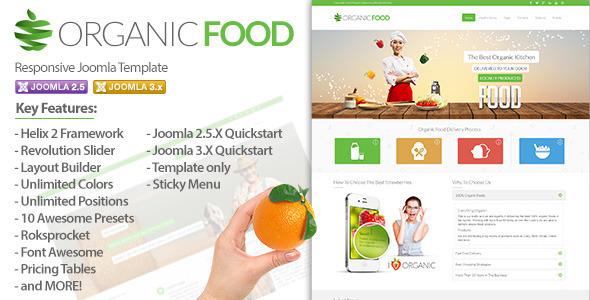 دانلود قالب جوملا Organic Food