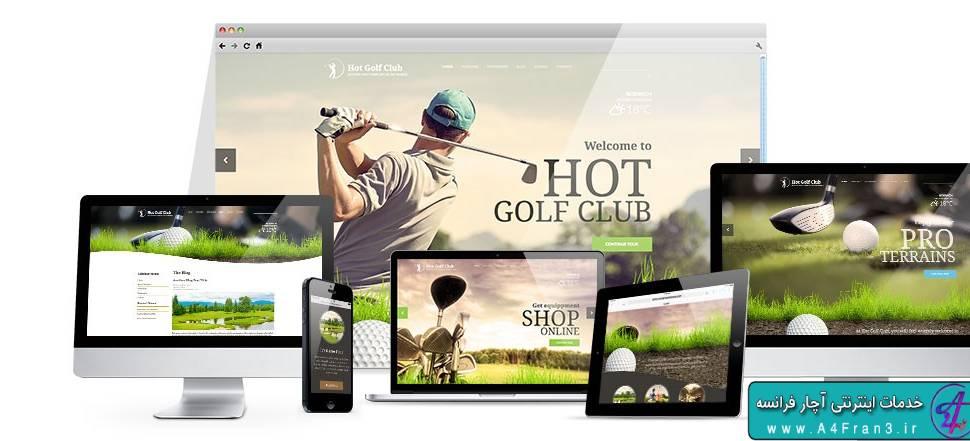 دانلود قالب ورزش گلف جوملا HOT Golf راست چین