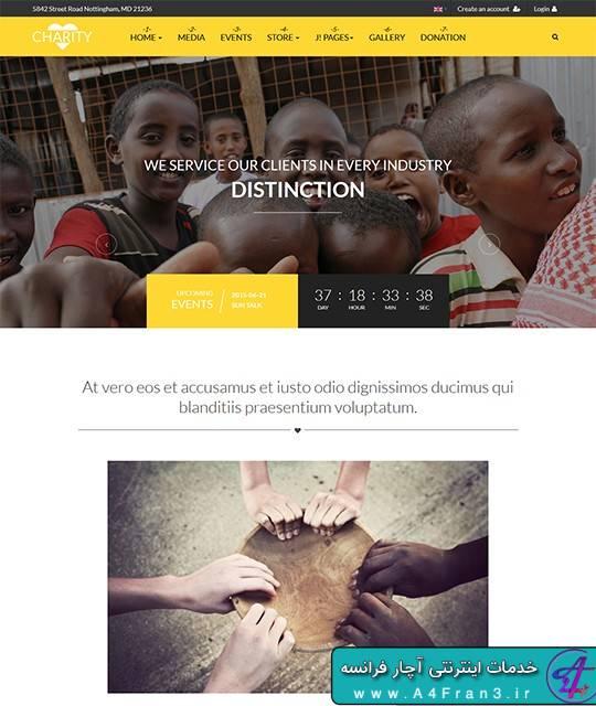 دانلود قالب جوملا خیریه JA Charity راست چین