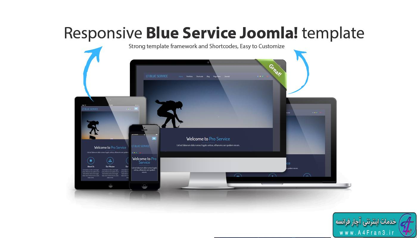 دانلود قالب جوملا LT Blue Service