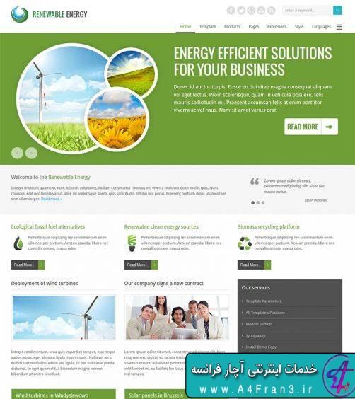دانلود قالب جوملا JM Renewable Energy