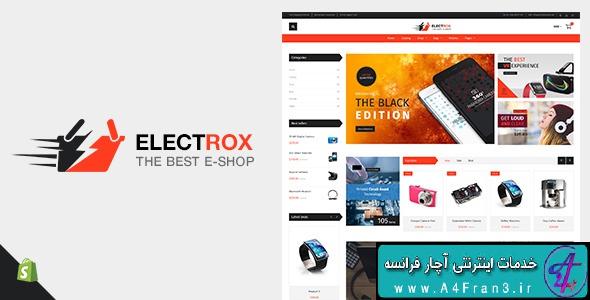 دانلود قالب شاپیفای فروشگاه لوازم الکترونیک Electrox