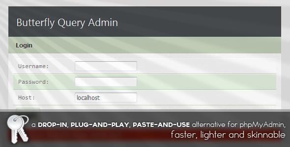 دانلود اسکریپت Butterfly Query Admin