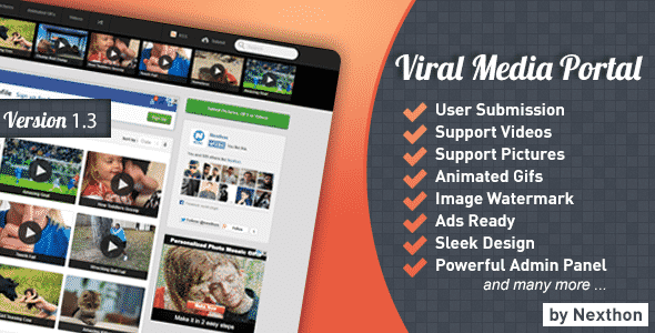 دانلود اسکریپت پورتال رسانه های تصویری Viral Media Portal