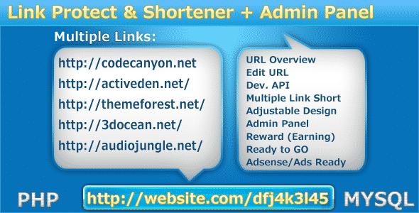 دانلود اسکریپت محافظت و کوتاه کننده لینک Protect-My-Links - Shortener