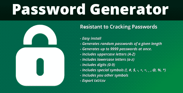 دانلود اسکریپت ساخت پسورد FPG Password Generator