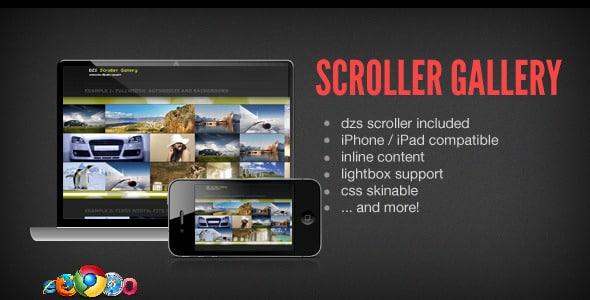 دانلود اسکریپت گالری DZS Scroller