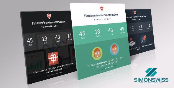 دانلود قالب HTML در دست طراحی Flatdown