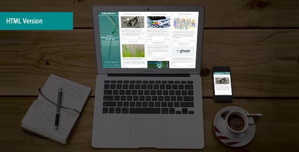 دانلود قالب HTML وبلاگی Dragonfly