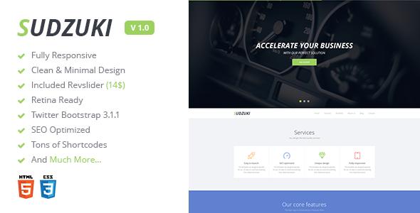 دانلود قالب HTML تک صفجه ای Sudzuki