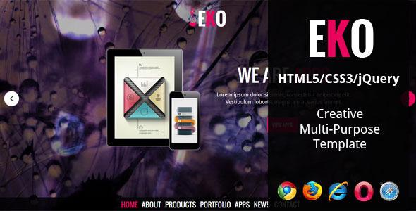 دانلود قالب HTML چندمنظوره EKO