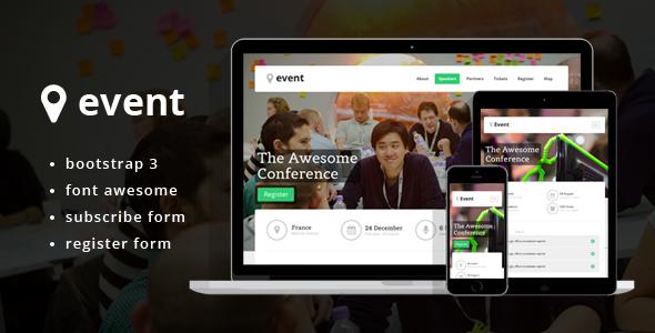 دانلود قالب HTML سایت Event