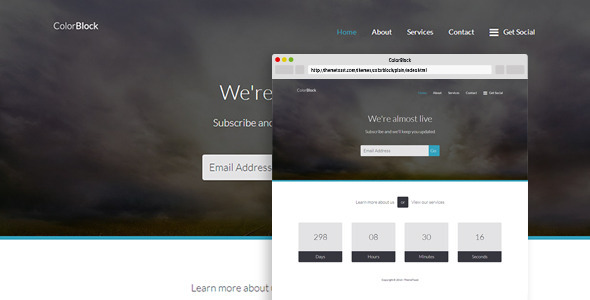 دانلود قالب HTML در دست طراحی ColorBlock
