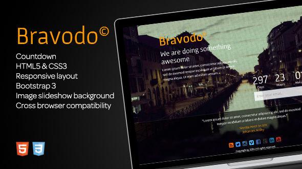 دانلود قالب HTML در دست طراحی Bravodo