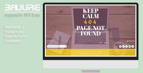 دانلود قالب HTML سایت 404 Bavure