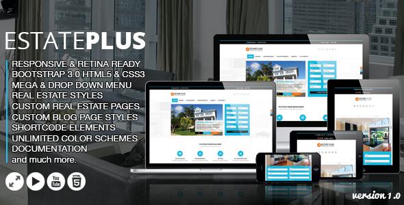 دانلود قالب HTML املاک Estate Plus