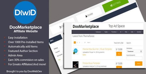 اسکریپت فروش محصولات مجازی DooMarketplace