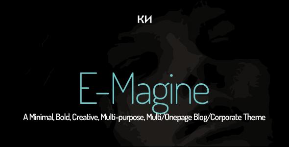 دانلود قالب HTML چندمنظوره E-Magine