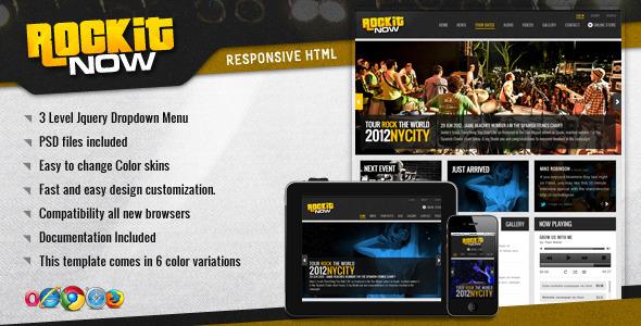 دانلود قالب HTML موسیقی Rockit Now