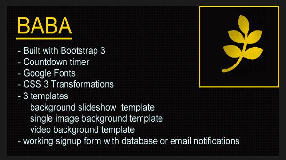 دانلود قالب HTML در دست طراحی BABA