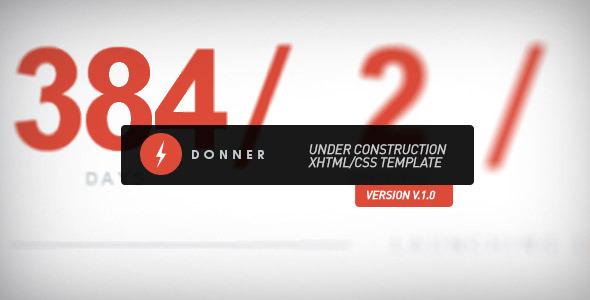 دانلود قالب HTML در دست طراحی Donner