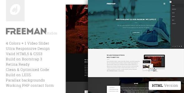 دانلود قالب HTML تک صفحه ای Freeman
