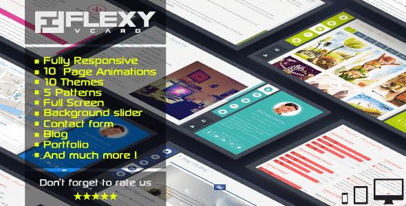 دانلود قالب HTML شخصی FlexyVcard