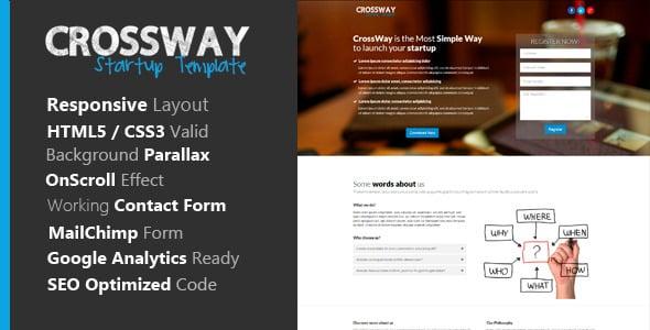 دانلود قالب HTML سایت Crossway