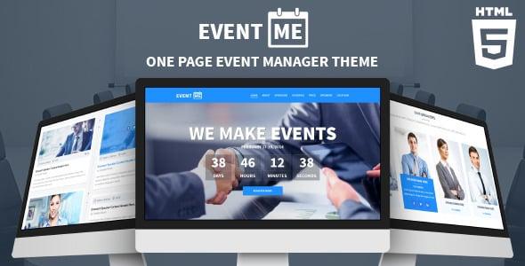دانلود قالب HTML رخدادها EventMe