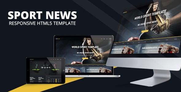 دانلود قالب HTML خبری Sport News