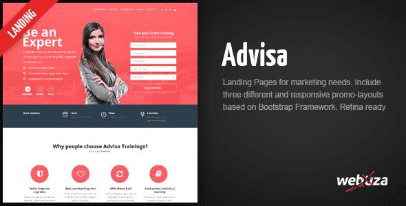 دانلود قالب HTML بازاریابی Advisa